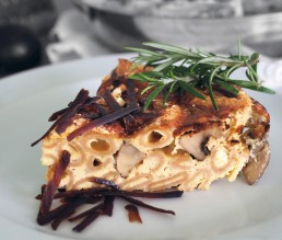 BioGourmet Rezept Italienische Frittata mit Balsamico-Pilzen und Pecorino