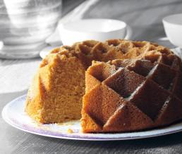 BioGourmet Rezept Tuerkischer Grießkuchen mit Joghurt und Holunderblütensirup
