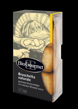 BioGourmet Bruschetta naturale geröstete Brotscheiben mit Olivenöl