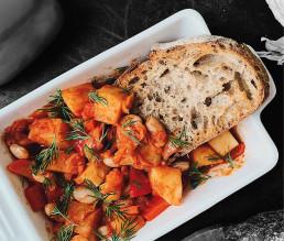 BioGourmet Rezept Mediterranes Ofengemüse mit Cannellini Bohnen