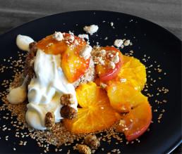 BioGourmet Rezept Süße Buddha-Bulgur-Bowl mit karamellisierten Orangen