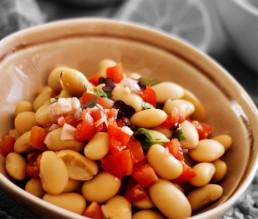 BioGourmet Rezept Orientalischer weißer Riesenbohnensalat mit Tomaten