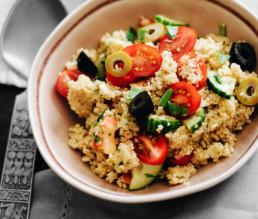 BioGourmet Rezept Couscous-Salat mit Feta und Oliven