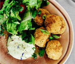 BioGourmet Rezept Vegane Falafel aus weißen Bohnen