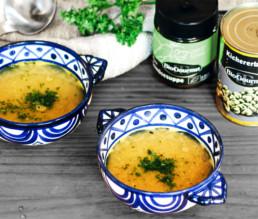 Einfache Kichererbsensuppe mit Kurkuma vegan | BioGourmet Rezept