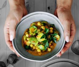 BioGourmet Rezept Indisches Rosenkohl-Curry vegan