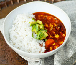 Einfaches Chili sin carne vegan BioGourmet Rezept