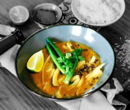 Veganes Steckrüben-Curry mit Linsen in Kokosmilch BioGourmet Rezept