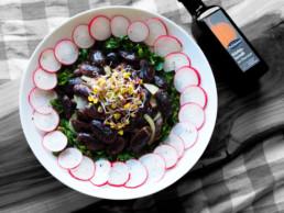 Traditionell steirischer Salat mit Käferbohnen und Kürbiskernöl BioGourmet Rezept