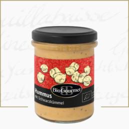BioGourmet Hummus mit Schwarzkümmel