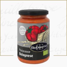 BioGourmet Pastasauce Bolognese mit Bio-Rindfleisch